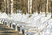 White Chairs In The Park