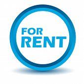 Blue rent icon