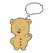 cartoon teddy bear with thought bubble