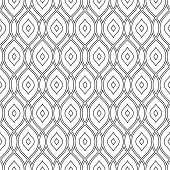 Seamless  Pattern. Black and White Colors