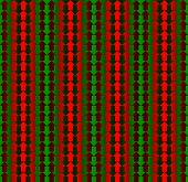 Red and green arrows pointing opposite directions, with a gradient giving the illusion of three dimensions, seamless pattern