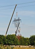 Top Changing Of An Electrical Pylon