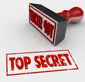 foto of top-secret  - Top Secret words stamped in red ink to restrict access to confidential - JPG