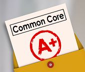 Common Core report card evaluating the performance and success of the new school or education guidelines and standards