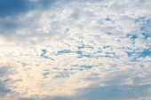 Cloud under blue sky Day nature background