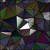 Abstract Polygon Stained Glass