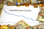 healthcare costs falling down