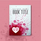 Modern Vector abstract book cover template for love story