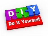 3D Diy Puzzle Pieces Illustration