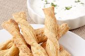 Baked Cheese Sticks With Dip