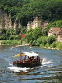 Tourist Boat On The Dordogne River, France poster
