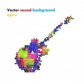 Color guitar, grunge music easy editable