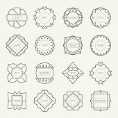 Set Of Outline Emblems And Badges