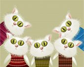 Cats in pullovers