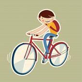 Cute Boy On A Bike