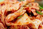 Kimchi (fermented vegetables) - traditional Korean dish