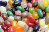foto of jelly beans  - fruit jelly beans close up  on white background - JPG