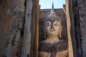 picture of chums  - Ancient Pra Ajana statue at Sri Chum Temple - JPG