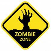 Vector sign zombie zone.