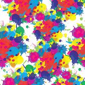 Indian festival seamless pattern colors splash