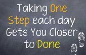 Take One Step Each Day