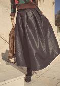 dark maxi skirt