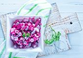 picture of lenten  - beet salad in bowl and on a table - JPG