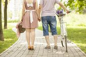 Loving Couple With Bicycle
