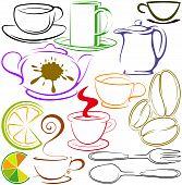 Cups And Teapots Contour