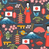 picture of japanese flag  - Japan seamless pattern - JPG