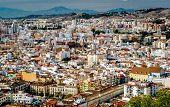 pic of suburban city  - Day view of Malaga city - JPG