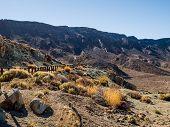 Desert landscape of Volcano Teide National Park