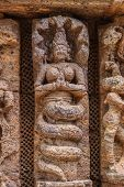 picture of half  - An ancient carving of a Naga  - JPG