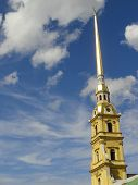 Saint Peter and Paul Cathedral in St. Petersburg , Russia
