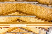 foto of attic  - Thermal insulation material  - JPG