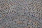 Постер, плакат: Cobblestone patterned pavement