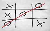 stock photo of tic  - Tic Tac Toe Game Competition XO Win Challecge Concept - JPG