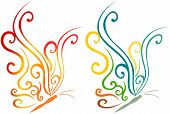 picture of color animal  - abstract art animal colorful butterfly vector illustration - JPG
