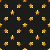 Gold Star Universal vector seamless patterns tiling.