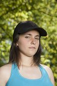 Young Woman With Cap