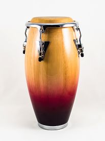stock photo of congas  - Conga on white background - JPG