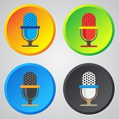 picture of microphone  - Microphone icon classic microphone symbol on color background - JPG
