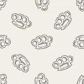 foto of brass knuckles  - Knuckles Doodle - JPG