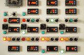 picture of indications  - Industry factory control panel with switches and digital indicators - JPG