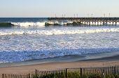 Ocean pier and beach