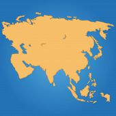 foto of continent  - Blue background with a map of a continent - JPG