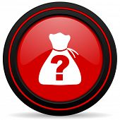 pic of riddles  - riddle red glossy web icon  - JPG
