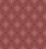 picture of fleur de lis  - Marsala color Fleur De Lis classical wallpaper - JPG