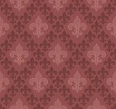 picture of marsala  - Marsala color Fleur De Lis classical wallpaper - JPG