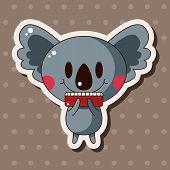 pic of koala  - Animal Koala Playing Instrument Cartoon Theme Elements - JPG